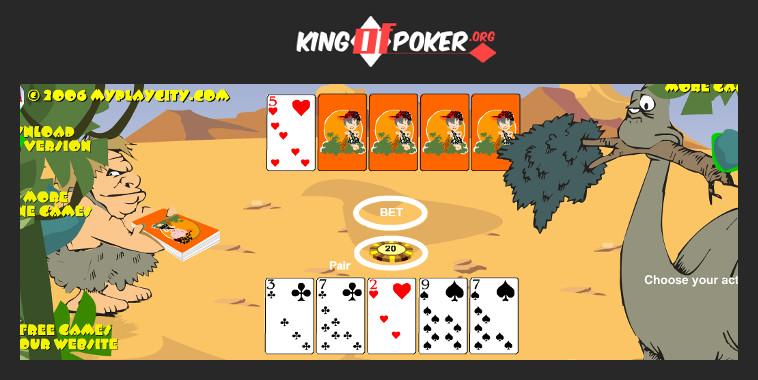 Dinosaur Poker Game : Poker à 5 cartes